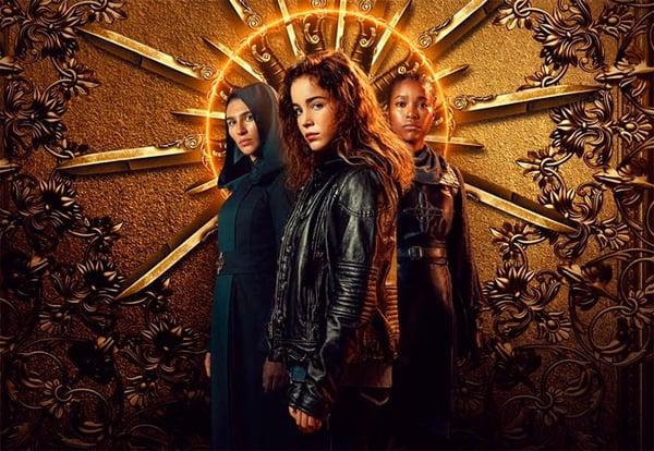 Imagen promocional de La monja guerrera, serie disponible Netflix.