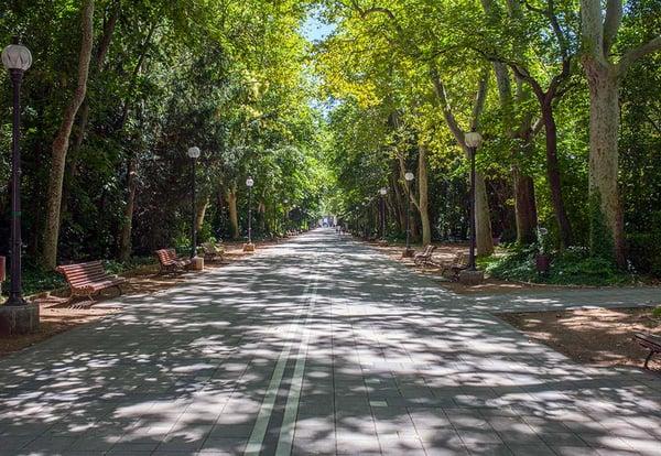 Paseo central del Campo Grande de Valladolid