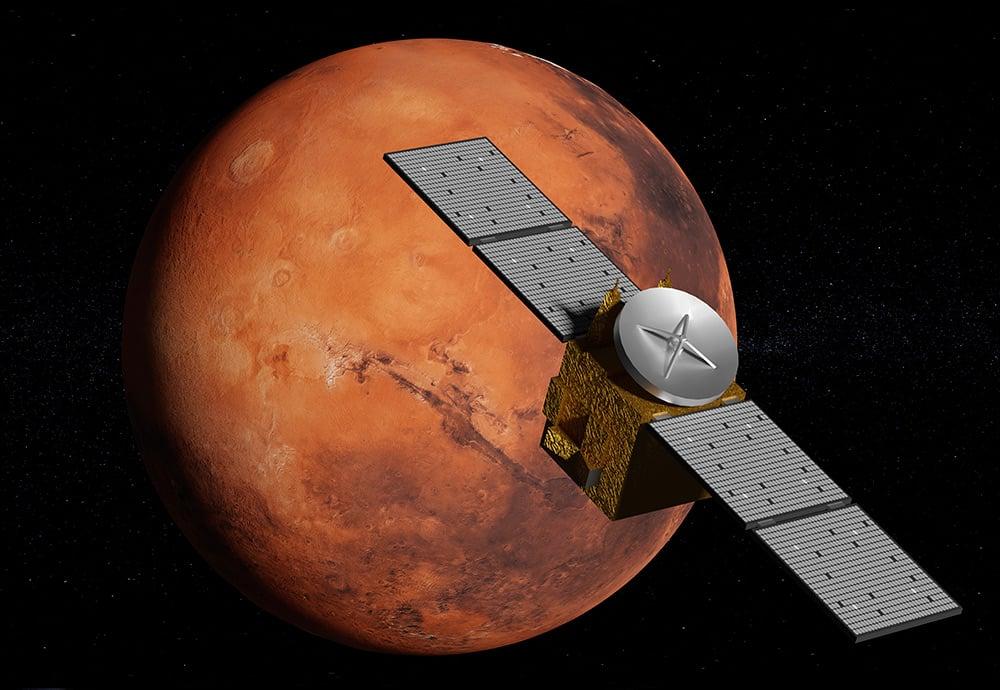 Reconstrucción de una sonda sobre Marte