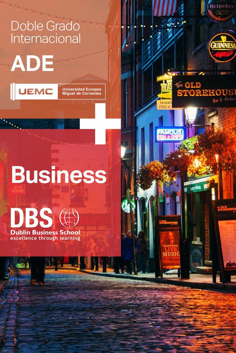 Doble grado internacional en Administración y Dirección de Empresas(ADE) + BA(Hons) Degree in Business