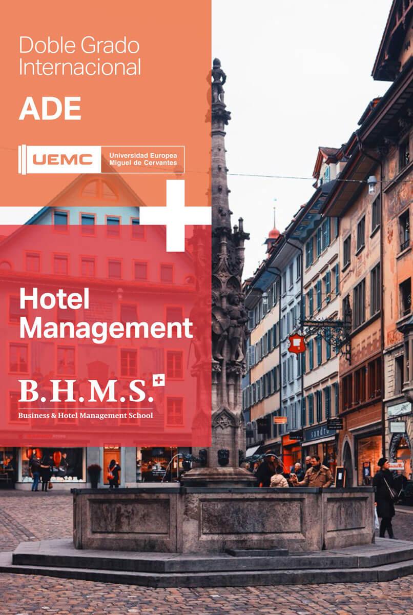 Doble grado internacional en Administración y Dirección de Empresas(ADE) + BA Degree in Hotel & Hospitality Management
