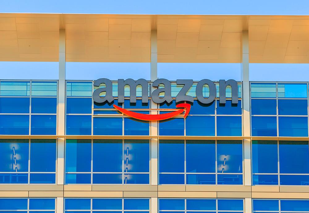 Fachada de la sede de Amazon en California (Estados Unidos)