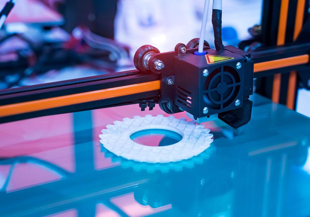 Detalle de una impresora 3D
