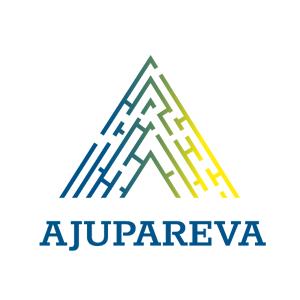 Logotipo de Ajupareva compuesto por una pirámide en la que hay un laberinto en su interior, y bajo esta la palabra Ajupareva.